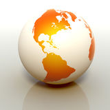 White Globe Royalty Free Stock Photography