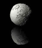 White Globe - Europe. Realistic model of planet earth on black background, europe, 3d render Royalty Free Stock Photos