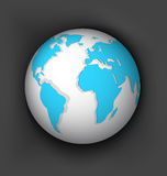White globe vector Royalty Free Stock Images