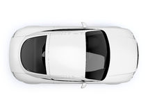 White glossy auto top view Royalty Free Stock Photo