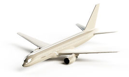 White glossy Boeing 757 aircraft Royalty Free Stock Photo