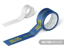 Free White Glossy Cello Tape Roll. Realistic Vector. Stock Images - 127627624
