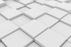 White glossy cubes Royalty Free Stock Photography