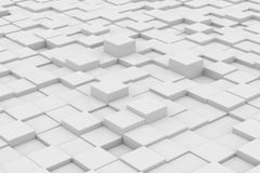 White glossy cubes on different height Royalty Free Stock Image