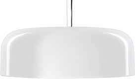 White glossy hanging Lamp. lamp isolated on white. Stock Photo