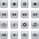 White Glossy remote buttons Royalty Free Stock Image