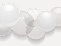 White glossy sphere 3d background Stock Photography