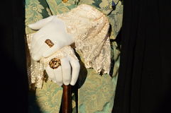 White gloves and Carnival of Venice Royalty Free Stock Photography