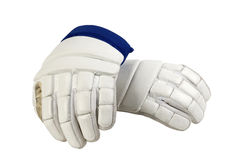 White gloves for hockey. Hand protection athlete Stock Image