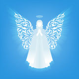 White glowing angel and halo. Stock Images