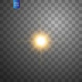 White glowing light burst explosion on transparent background. Vector illustration light effect decoration with ray royalty free illustration