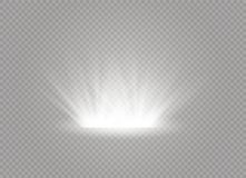 White glowing light burst explosion on transparent background. Vector illustration light effect decoration with ray stock photography