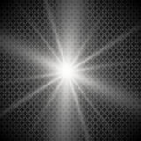 White glowing light burst explosion with transparent. Vector illustration for cool effect decoration with ray sparkles. Bright sta Royalty Free Stock Images