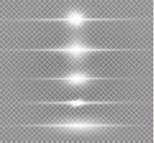 White glowing light vector illustration