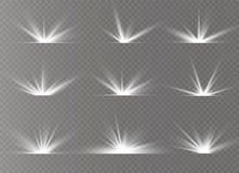 White glowing light stock image