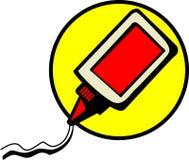 White glue vector illustration. Vectpr illustration of a bottle of white glue Royalty Free Stock Image
