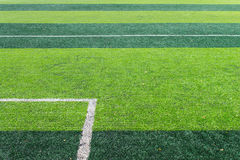 White Goal Line of Football Field Royalty Free Stock Photos