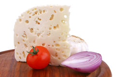 White Goat Cheese Stock Photography
