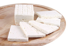 White goat cheese served Royalty Free Stock Image