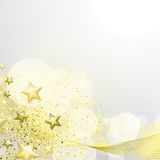 White and gold background Royalty Free Stock Photography