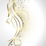 White and gold background Royalty Free Stock Images