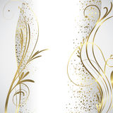 White and gold background Stock Image