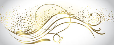 White and gold banner Stock Images