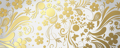 White and gold banner Royalty Free Stock Image