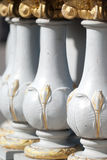 White and gold bridge decoration Royalty Free Stock Photo