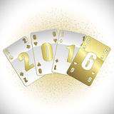 White and gold cards 2016 Stock Images
