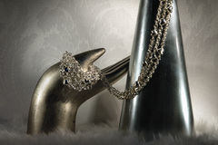 White gold chain Stock Images