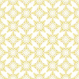 White and gold curve seamless pattern. Royalty Free Stock Photo