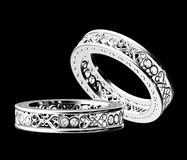 White gold diamond ring Stock Photo