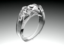 White Gold Diamond Ring Stock Photography