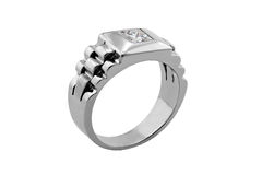 White gold diamond ring Stock Photos