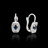White gold earrings Stock Photography