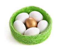 White and gold eggs Stock Photography