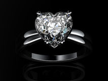 White gold engagement ring Stock Image