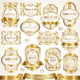 White gold-framed labels - vector set Royalty Free Stock Image