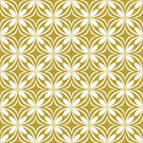 White on gold geometric tile oval and circle seamless repeat pattern background. Two colour geometric tile oval and circle seamless repeat pattern background Stock Photo