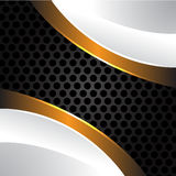 White gold on gray circle mesh vector. White gold on gray circle mesh design background vector illustration Stock Photos