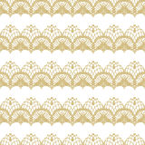 White and gold lace seamless stripes pattern. Stock Photo