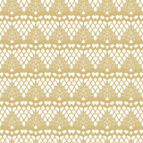 White and gold lace seamless stripes pattern. Royalty Free Stock Image
