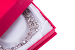 White gold necklace Royalty Free Stock Photography