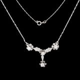 White gold necklace with diamonds Royalty Free Stock Photo