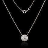 White gold necklace with diamonds Stock Images