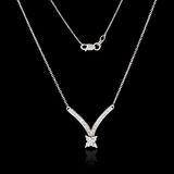 White gold necklace with diamonds Royalty Free Stock Photos