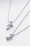 White gold necklaces Royalty Free Stock Images