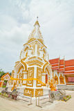 White and gold pagoda. A white and gold pagoda in Asia Royalty Free Stock Photos
