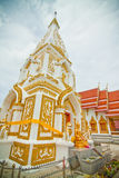 White and gold pagoda. A white and gold pagoda in Asia Royalty Free Stock Photography